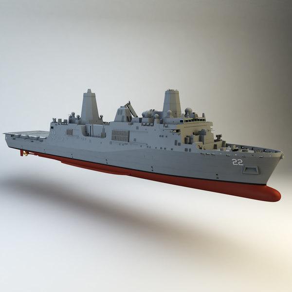 USS San Diego 3D Models