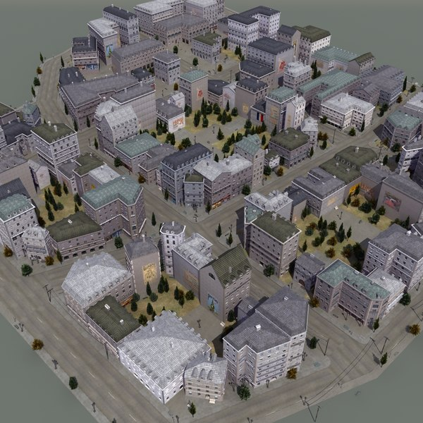 French Town St01 3D Models