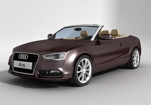 Audi A5 Cabrio 2014 3D Models