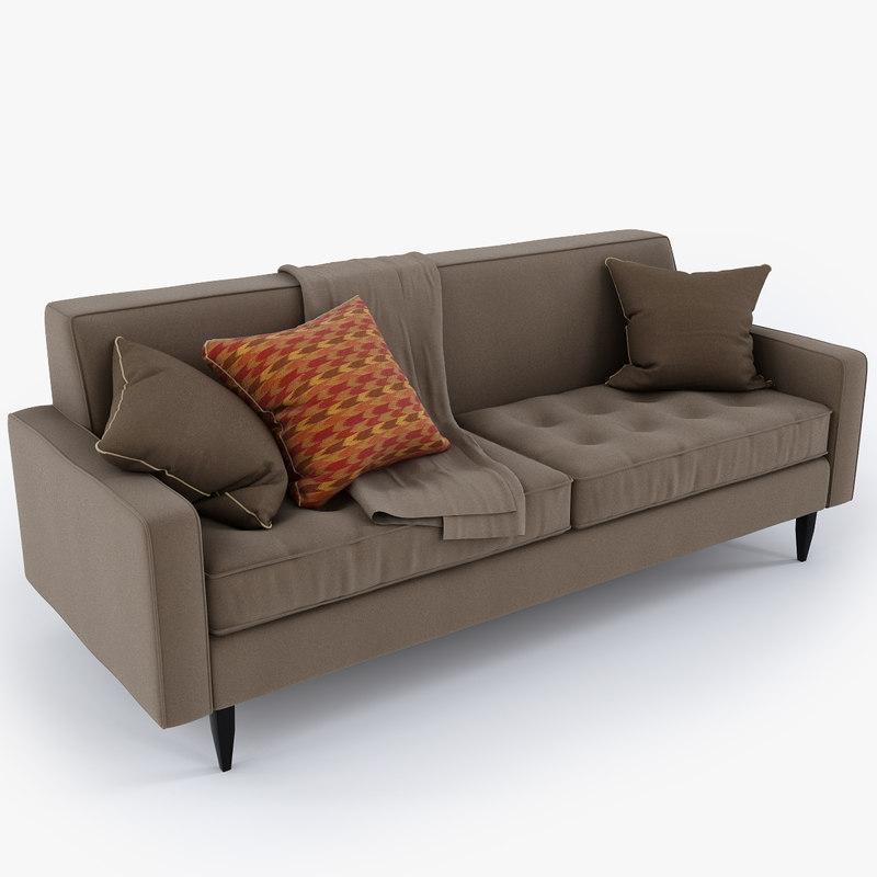 Reese Sofa 3d Model