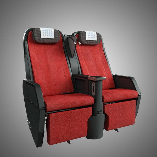JAL Seat Premium 3D Models