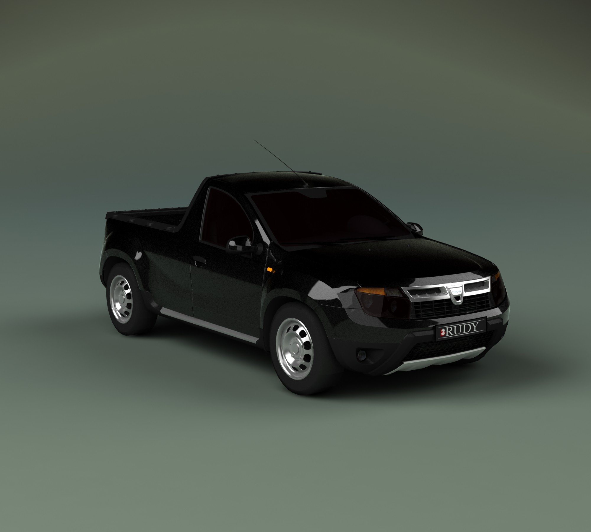 dacia duster pick up 3d max. Black Bedroom Furniture Sets. Home Design Ideas