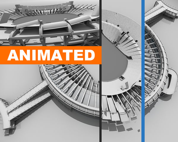 Animated Maracana 3D Models