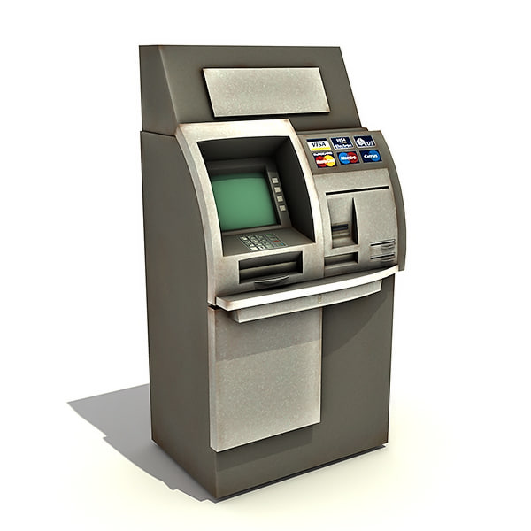 Automated Teller Machine (ATM) 3D Models