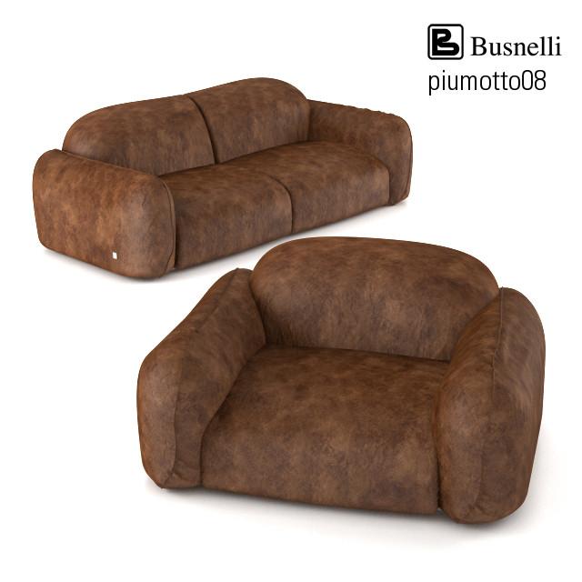 Busnelli Piumotto 08 Leather Sofa