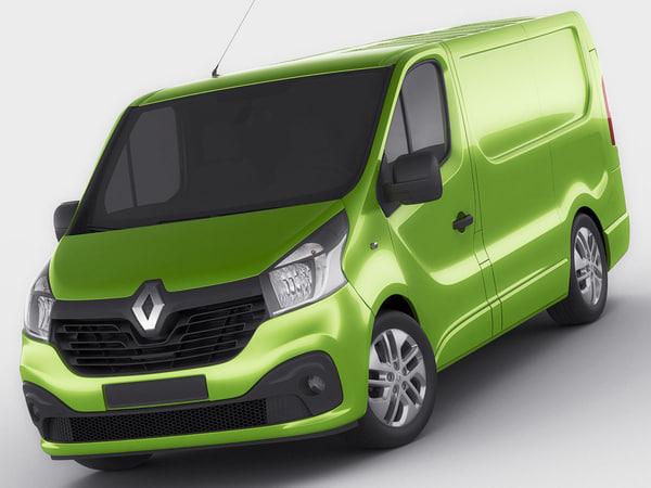 Renault Trafic 2015 panel van Texture Maps