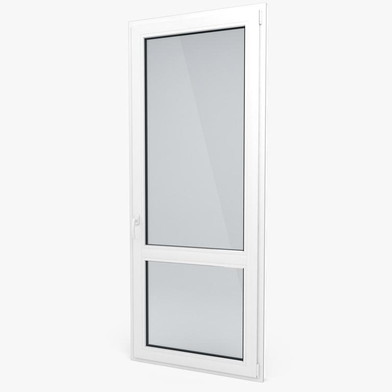 Modern pvc door 3d model for Door 3d model