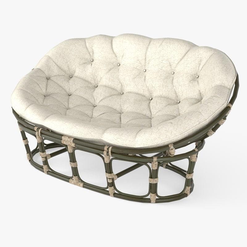 Mamasan chair sofa 3d obj for Papasan sofa