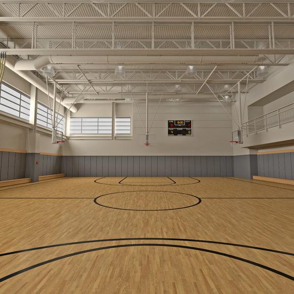 Basketball Gym 3D Models