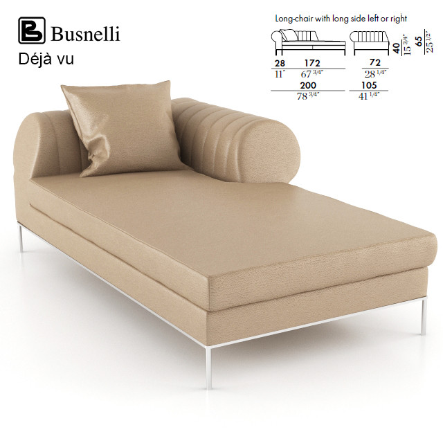 Busnelli Deja vu Long Chair Sofa