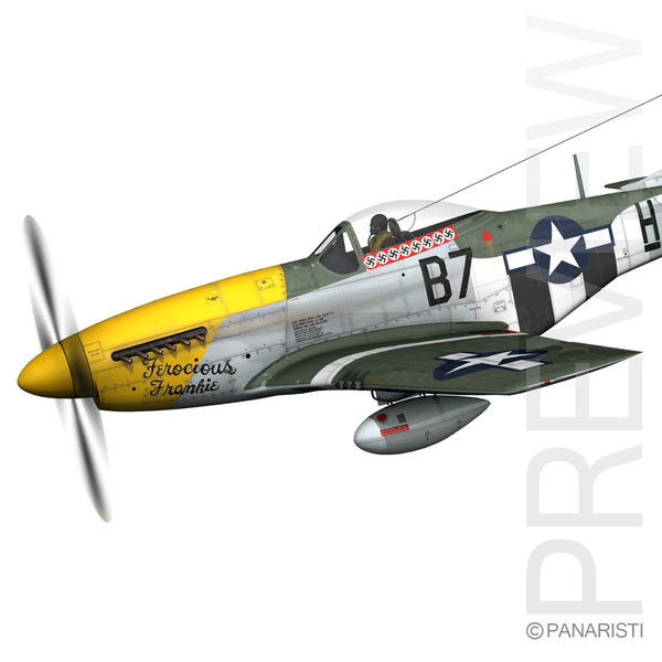 North American P-51D Mustang - Ferocious Frankie 3D Models