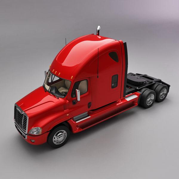 Freightliner 2009 Truck 3D Models