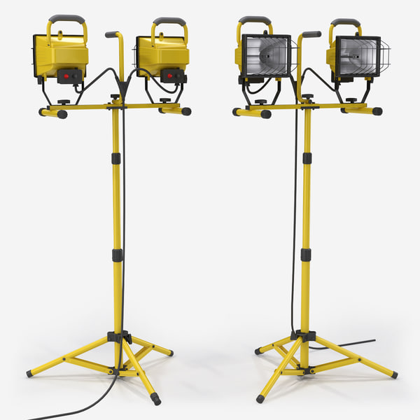Halogen work lights 3D Models