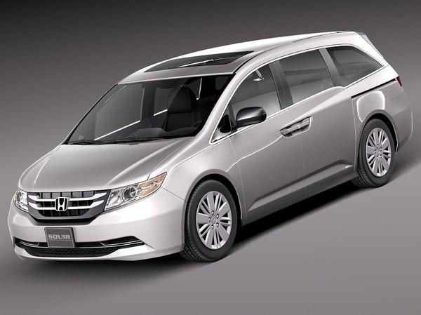 Honda Odyssey 2014 3D Models