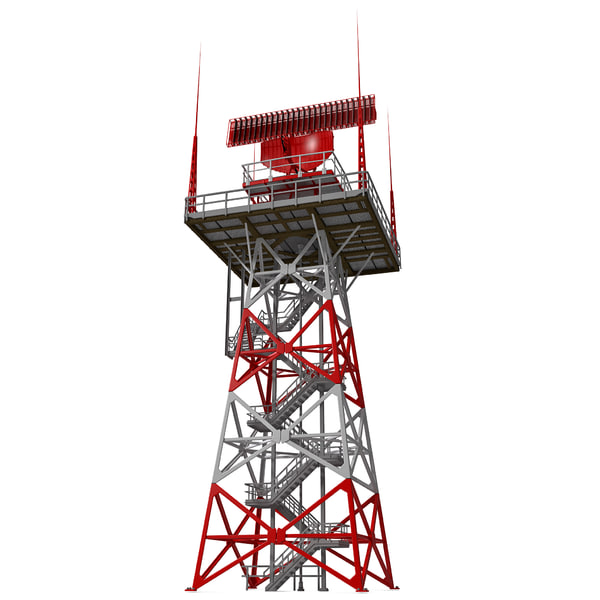 Airport Primary Surveillance Radar 3D Models