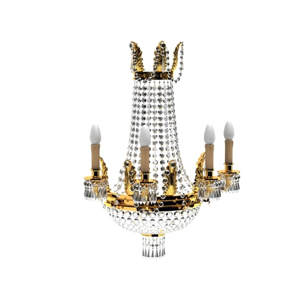 Classic Crystal chandelier gold