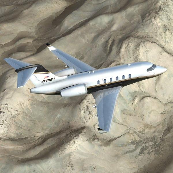 CL-350 Private Jet 3D Models
