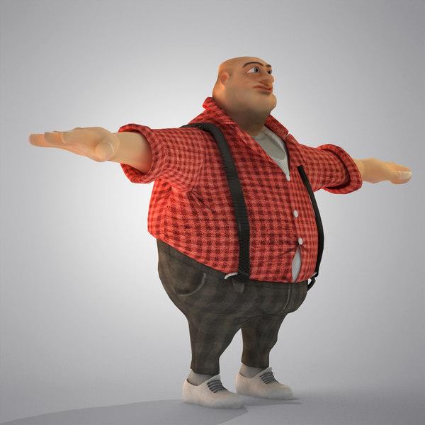 Egypt Cartoon( Fat Man) 3D Models