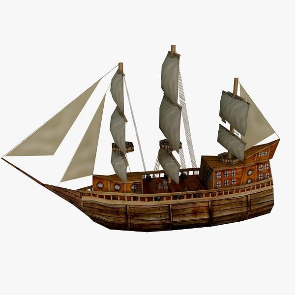 Ship Low Poly