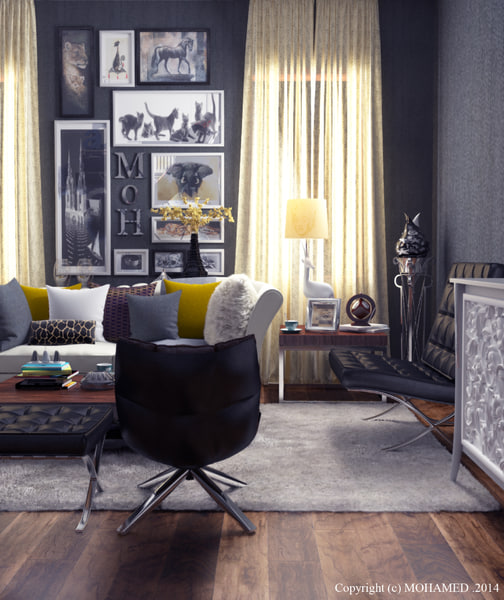 Sitting Interior Design 3D Models