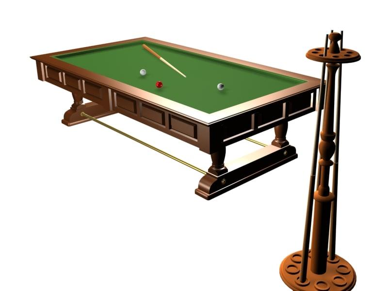Old billard table