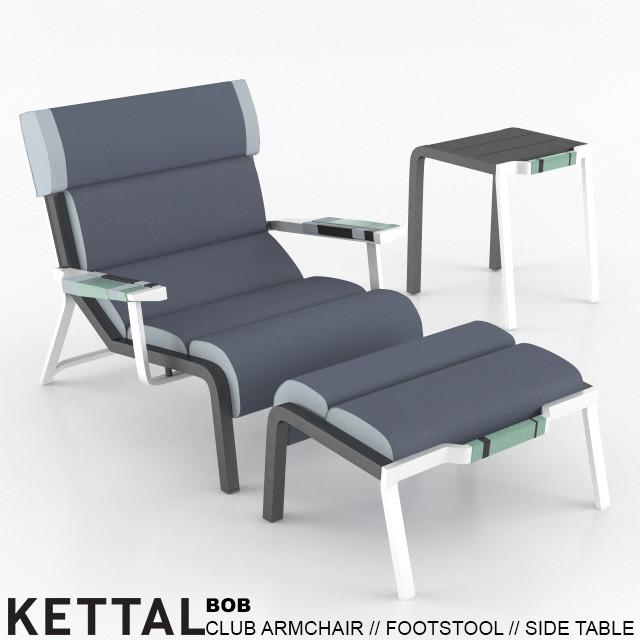 Kettal Bob Club Armchair Side Table