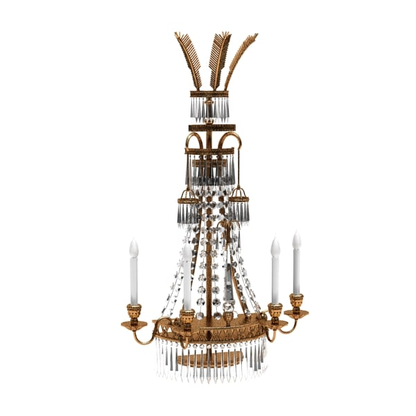 3dsmax classic crystal chandelier
