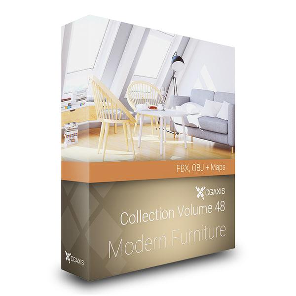 CGAxis Models Volume 48 Modern Furniture FBX OBJ 3D Models