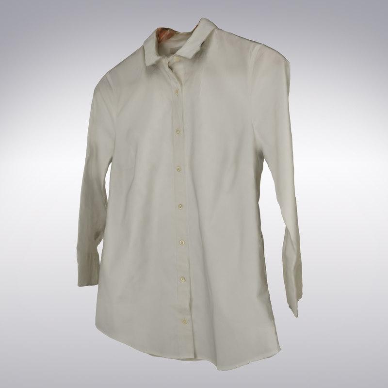 Women's 3/4 Sleeve Blouse White