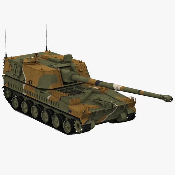 Korean Howitzer K9 Thunder 2 3D Models