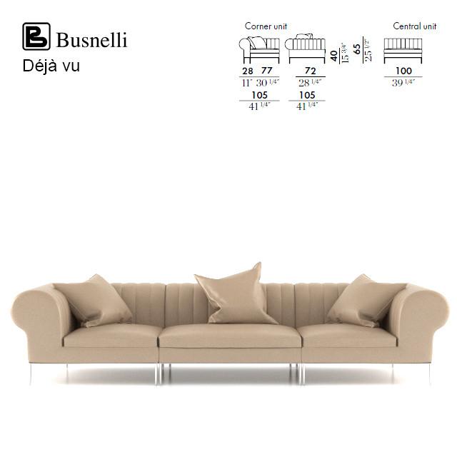Busnelli Deja vu Corner and Central Unit