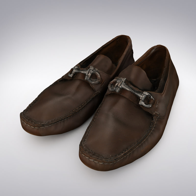 Men's Loafers Brown Leather With Buckle