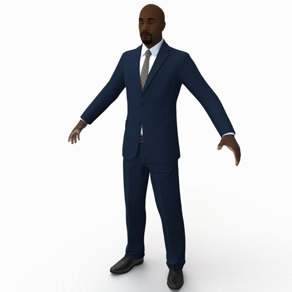Black Male Businessman Rigged 3D Models