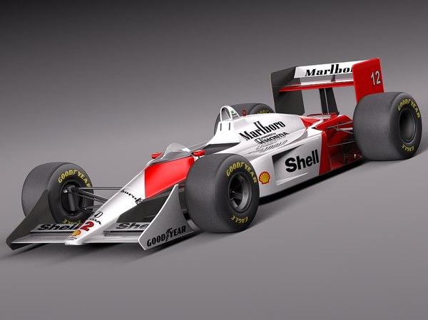 McLaren Honda Mp4-4 Ayrton Senna F1 3D Models