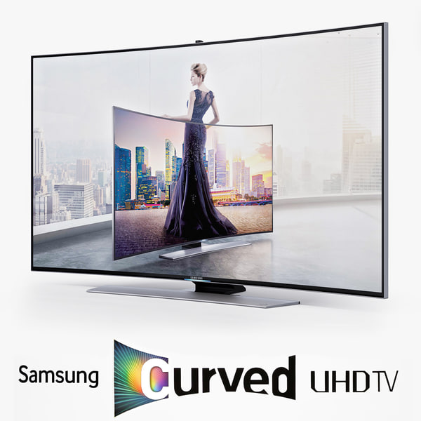 Samsung Curved Smart 3D UHD 4K LED TV UE65HU9000T 3D Models