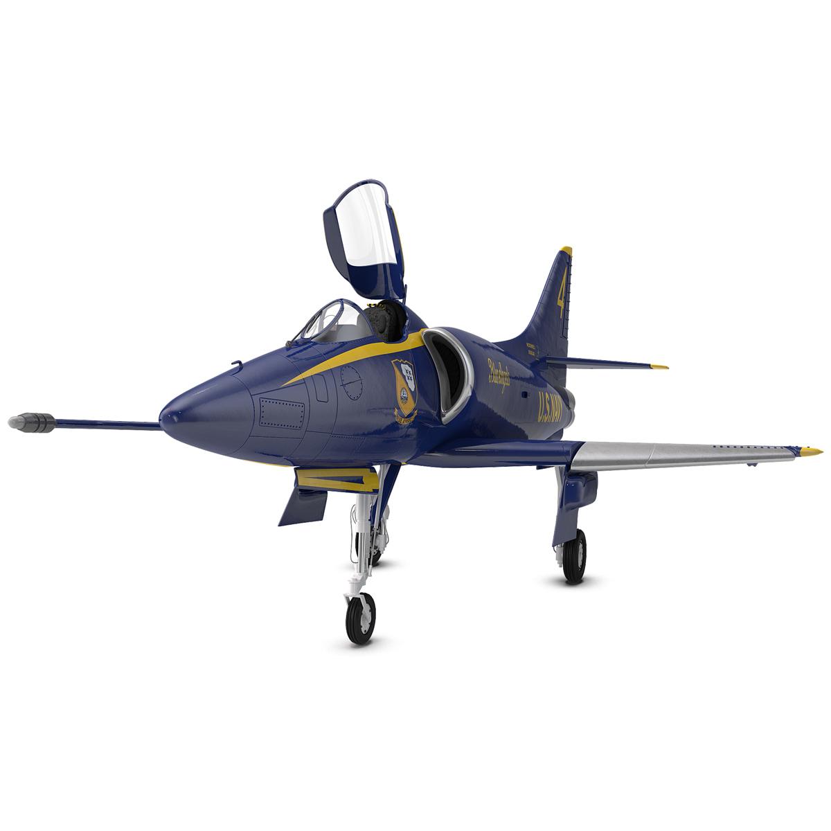 Attack Aircraft A-4 Skyhawk Blue Angel Rigged