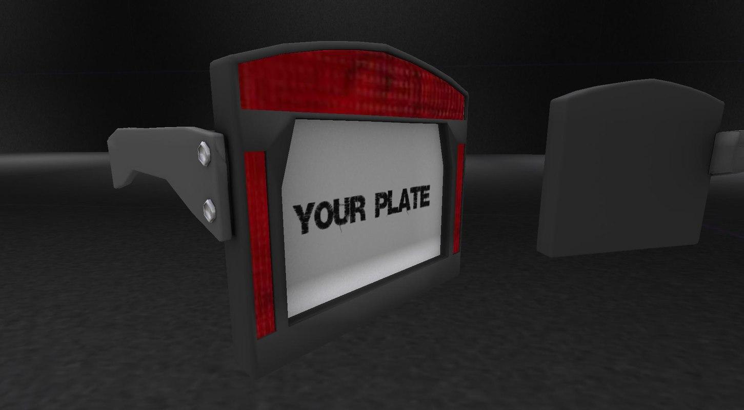 DMD Licence Plate Light