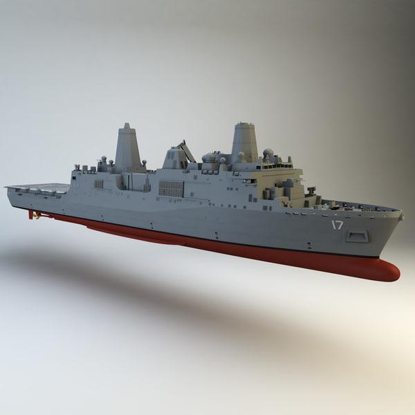 USS San Antonio 3D Models