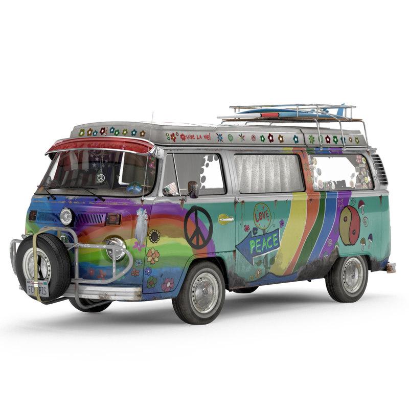 VW T2 Hippie Van