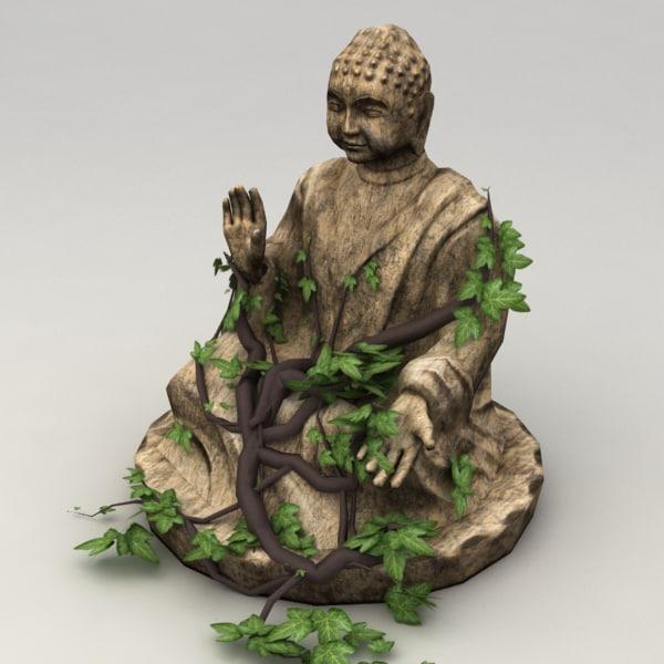 Lowpoly buddha statue