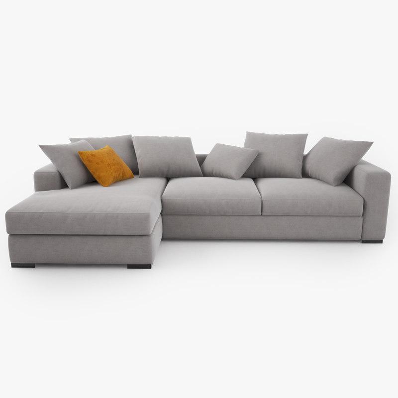 cenova sofa gk52 3d model. Black Bedroom Furniture Sets. Home Design Ideas
