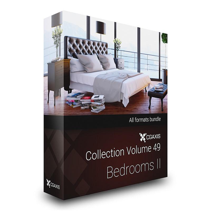 CGAxis Models Volume 49 Bedrooms II