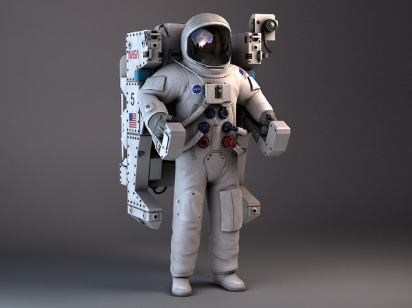 NASA MMU Astronaut with backpack 3D Models