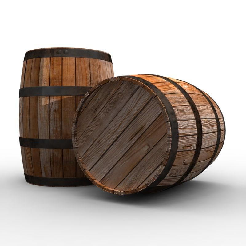 3d wine barrel model for Barriles de vino
