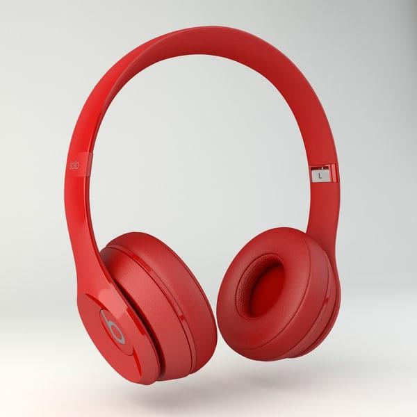 Beats Solo 2 3D Models