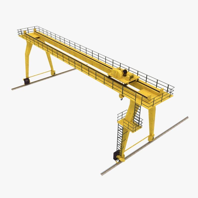 Jib Crane Licence : Gantry crane d obj