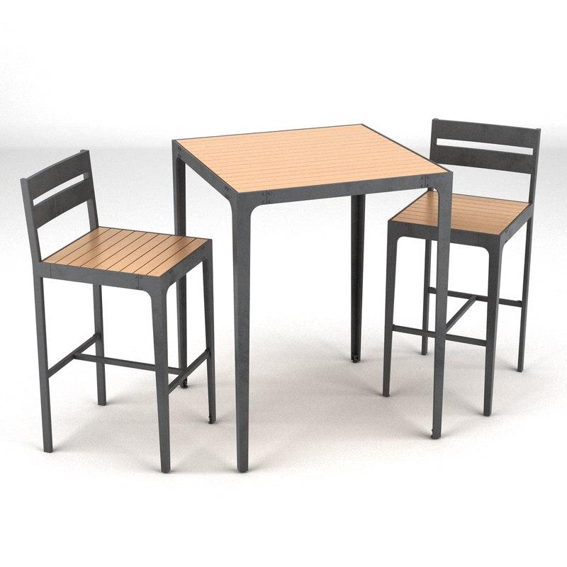 Outdoor furniture 3d model for Outdoor furniture 3d model