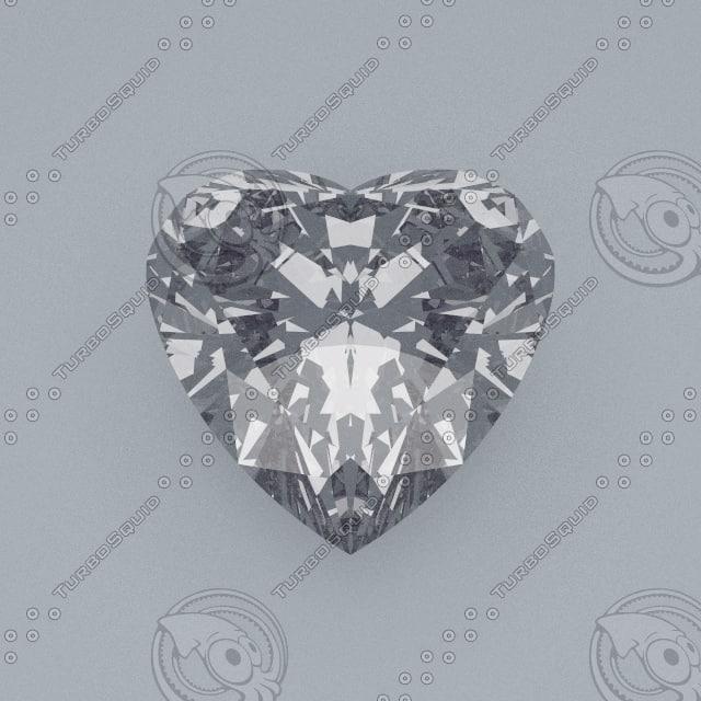 Heart Cut Gemstone Diamond