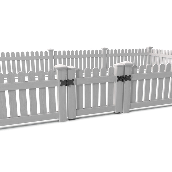 Picket Fence 3D Models