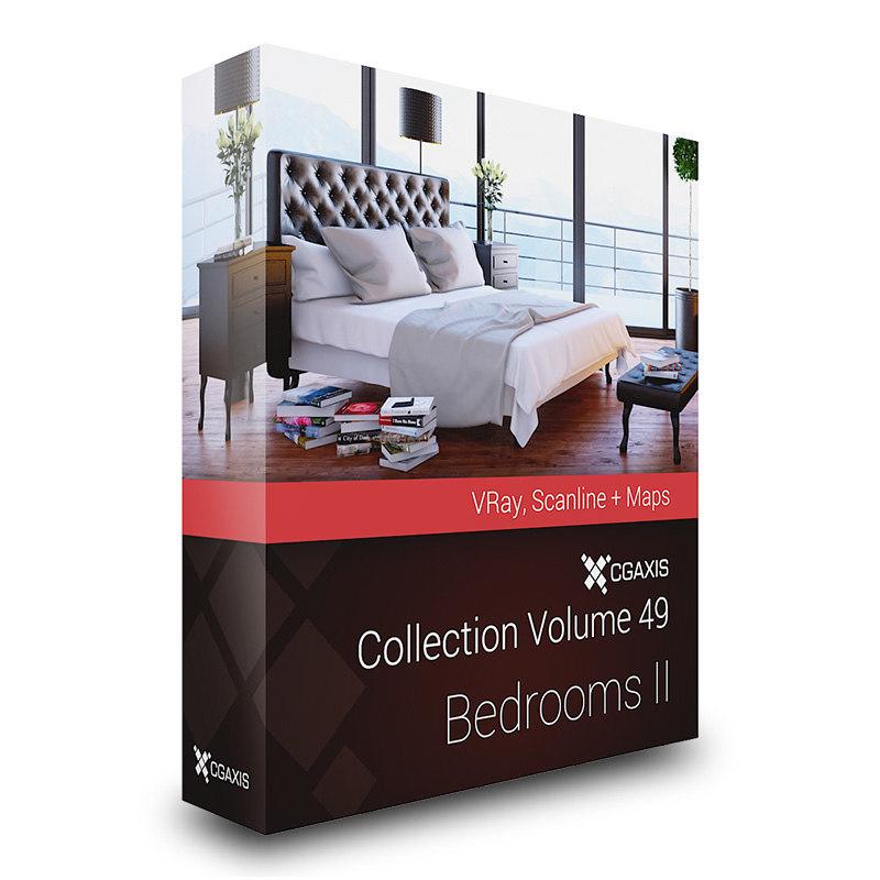 CGAxis Models Volume 49 Bedrooms II VRay